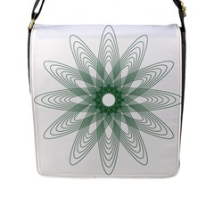 Spirograph Pattern Circle Design Flap Messenger Bag (l)