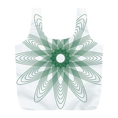 Spirograph Pattern Circle Design Full Print Recycle Bags (l)