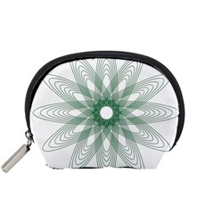 Spirograph Pattern Circle Design Accessory Pouches (small)