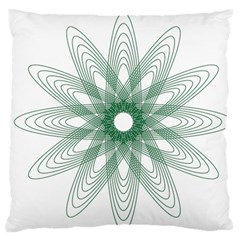 Spirograph Pattern Circle Design Large Flano Cushion Case (two Sides)