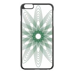 Spirograph Pattern Circle Design Apple Iphone 6 Plus/6s Plus Black Enamel Case