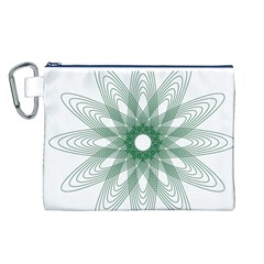 Spirograph Pattern Circle Design Canvas Cosmetic Bag (L)