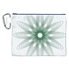Spirograph Pattern Circle Design Canvas Cosmetic Bag (xxl)