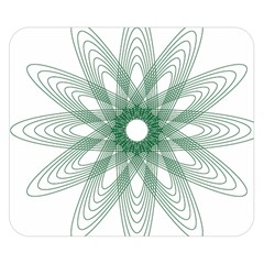 Spirograph Pattern Circle Design Double Sided Flano Blanket (Small)