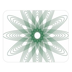Spirograph Pattern Circle Design Double Sided Flano Blanket (Large)