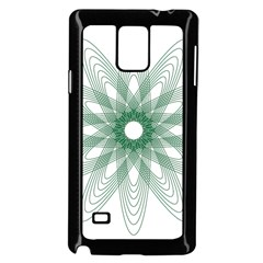 Spirograph Pattern Circle Design Samsung Galaxy Note 4 Case (Black)