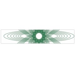 Spirograph Pattern Circle Design Flano Scarf (large)