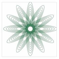 Spirograph Pattern Circle Design Large Satin Scarf (square)