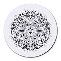 Art Coloring Flower Page Book Round Mousepads
