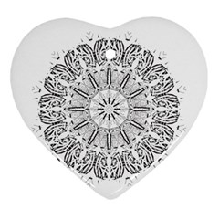Art Coloring Flower Page Book Ornament (heart)