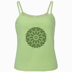 Art Coloring Flower Page Book Green Spaghetti Tank