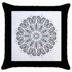 Art Coloring Flower Page Book Throw Pillow Case (Black)