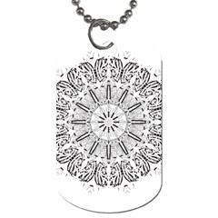 Art Coloring Flower Page Book Dog Tag (one Side)