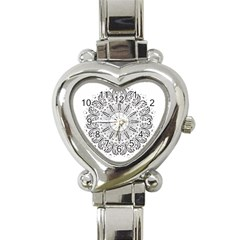 Art Coloring Flower Page Book Heart Italian Charm Watch