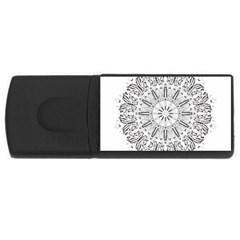 Art Coloring Flower Page Book Usb Flash Drive Rectangular (4 Gb)
