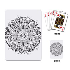 Art Coloring Flower Page Book Playing Card