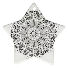 Art Coloring Flower Page Book Star Ornament (two Sides)
