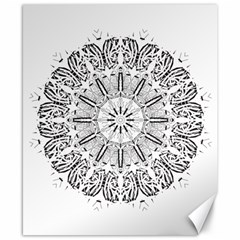 Art Coloring Flower Page Book Canvas 8  X 10
