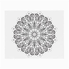 Art Coloring Flower Page Book Small Glasses Cloth (2-Side)