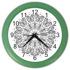 Art Coloring Flower Page Book Color Wall Clocks