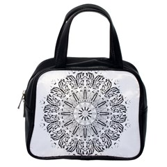 Art Coloring Flower Page Book Classic Handbags (one Side)