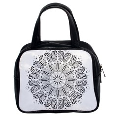 Art Coloring Flower Page Book Classic Handbags (2 Sides)