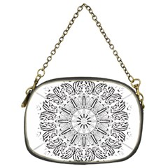 Art Coloring Flower Page Book Chain Purses (one Side)