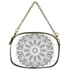 Art Coloring Flower Page Book Chain Purses (two Sides)