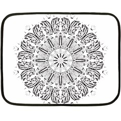 Art Coloring Flower Page Book Double Sided Fleece Blanket (Mini)