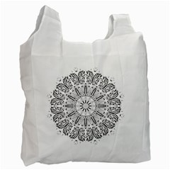 Art Coloring Flower Page Book Recycle Bag (Two Side)