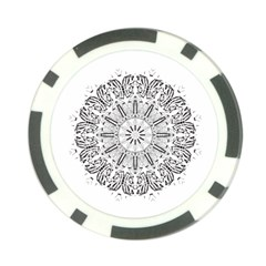 Art Coloring Flower Page Book Poker Chip Card Guard (10 pack)