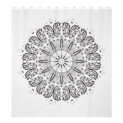 Art Coloring Flower Page Book Shower Curtain 66  X 72  (large)