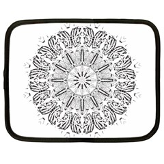 Art Coloring Flower Page Book Netbook Case (xl)