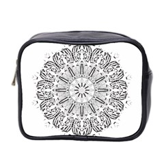 Art Coloring Flower Page Book Mini Toiletries Bag 2-Side