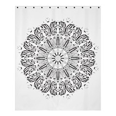 Art Coloring Flower Page Book Shower Curtain 60  X 72  (medium)
