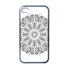 Art Coloring Flower Page Book Apple Iphone 4 Case (black)