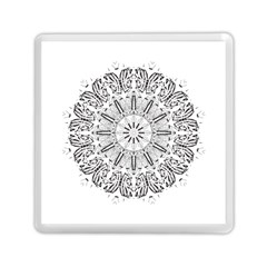 Art Coloring Flower Page Book Memory Card Reader (square)