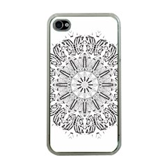Art Coloring Flower Page Book Apple iPhone 4 Case (Clear)