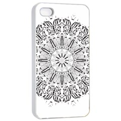 Art Coloring Flower Page Book Apple Iphone 4/4s Seamless Case (white)