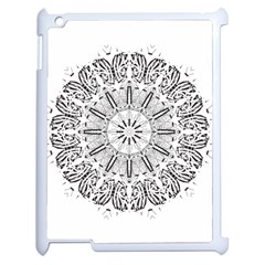 Art Coloring Flower Page Book Apple iPad 2 Case (White)