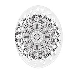 Art Coloring Flower Page Book Oval Filigree Ornament (two Sides)