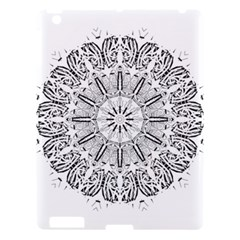 Art Coloring Flower Page Book Apple Ipad 3/4 Hardshell Case