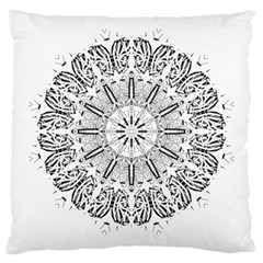 Art Coloring Flower Page Book Large Cushion Case (Two Sides)
