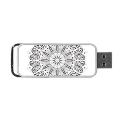 Art Coloring Flower Page Book Portable Usb Flash (two Sides)