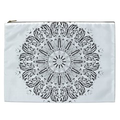 Art Coloring Flower Page Book Cosmetic Bag (XXL)