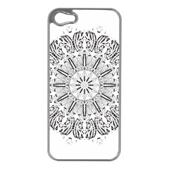Art Coloring Flower Page Book Apple Iphone 5 Case (silver)