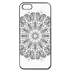 Art Coloring Flower Page Book Apple Iphone 5 Seamless Case (black)