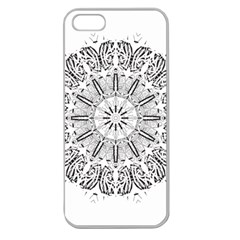 Art Coloring Flower Page Book Apple Seamless iPhone 5 Case (Clear)
