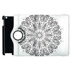 Art Coloring Flower Page Book Apple Ipad 2 Flip 360 Case