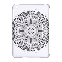 Art Coloring Flower Page Book Apple Ipad Mini Hardshell Case (compatible With Smart Cover)